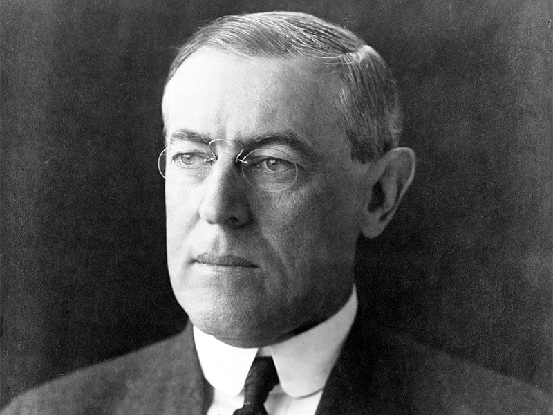President Woodrow Wilson on Dec. 2, 1912. Photo courtesy of the Library of Congress/Pach Brothers, New York