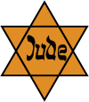 Yellow badge used to identify Jews in public.
