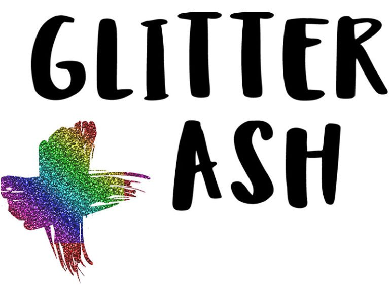 The Glitter Ash Wednesday logo. Image courtesy of Queer Virtue