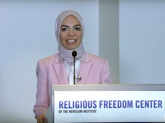 Engy Abdelkader at the Newseum