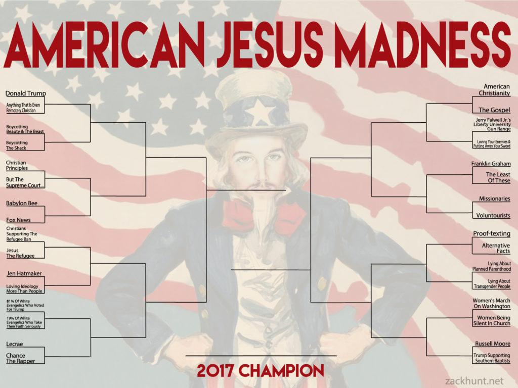 American Jesus Madness 2017 bracket