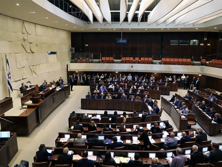 Israeli lawmakers attend a vote on a bill at the Knesset, the Israeli parliament, in Jerusalem on Feb. 6, 2017. Photo courtesy of Reuters/Ammar Awad