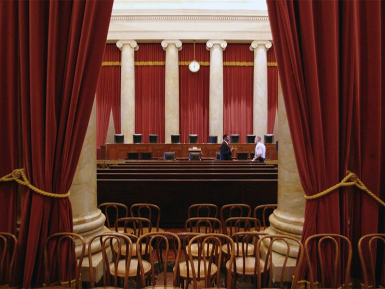 The courtroom of the U.S. Supreme Court in Washington, D.C., on March 23, 2010.  Photo by Mike Shoup/Creative Commons