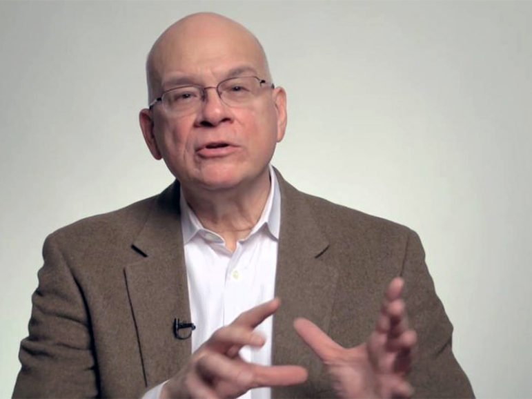 Timothy Keller is the founding pastor of Redeemer Presbyterian Church in Manhattan, which he started in 1989.  Screenshot from Vimeo