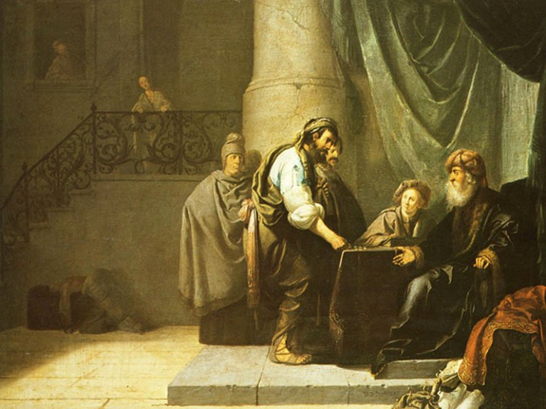 """Willem de Poorter's painting """"The Parable of the Talents"""" from the 17th century.  Image courtesy of Creative Commons"""