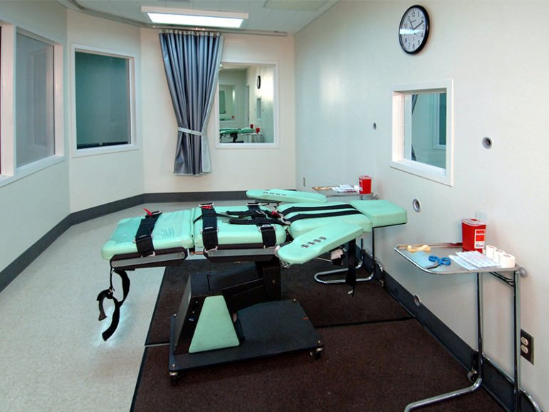 The lethal injection room at San Quentin State Prison in California in 2010.  Photo courtesy of Creative Commons/CA Corrections