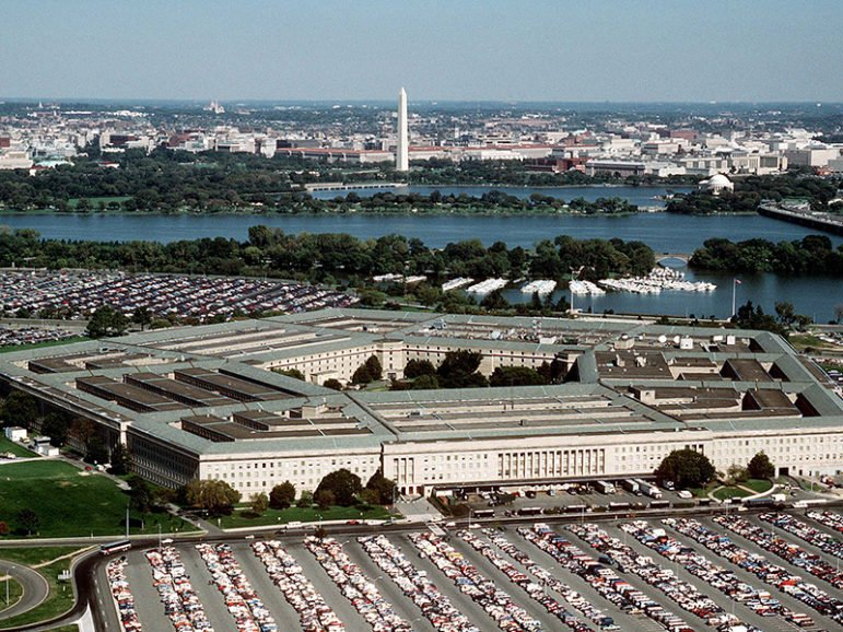The Pentagon, headquarters of the Department of Defense, in the 1990s. Photo courtesy of Creative Commons/DoD/Master Sgt. Ken Hammond, U.S. Air Force