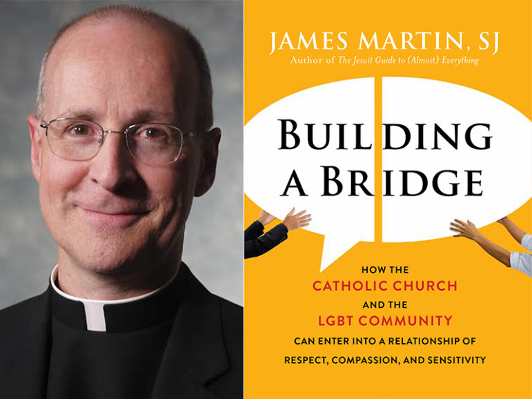 """""""Building A Bridge: How the Catholic Church and the LGBT Community Can Enter into a Relationship of Respect, Compassion, and Sensitivity"""" by the Rev. James Martin. Images courtesy of Harper Collins"""