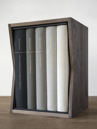 Bibliotheca is a five-volume version of the Bible created by Adam Lewis Greene. Photo courtesy of Bibliotheca