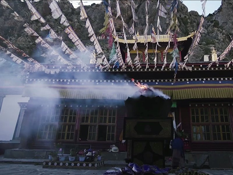 """Many religious practices now take place in China, which was once officially athiest.  Screenshot from """"The Souls of China"""" video"""