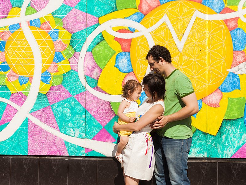 Candace and Chris Wohl with their daughter. The couple struggled with infertility issues for years.   Photo courtesy of Ashley Whitlow Photography