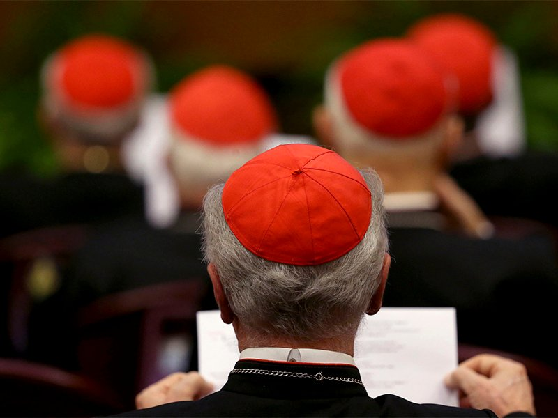 Cardinals attend a consistory led by Pope Francis as he names 20 new cardinals at the Vatican on Feb. 12, 2015.   Photo courtesy of Reuters/Alessandro Bianchi
