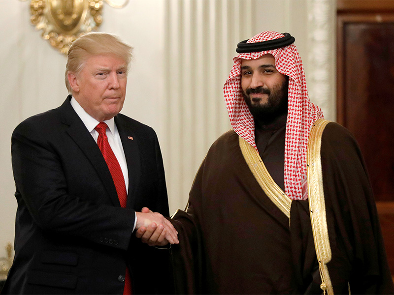 President Trump and Saudi Deputy Crown Prince and Minister of Defense Mohammed bin Salman meet at the White House in Washington, D.C., on March 14, 2017. Photo courtesy of Reuters/Kevin Lamarque