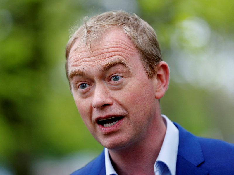 Britain's Liberal Democrats leader announces resignation