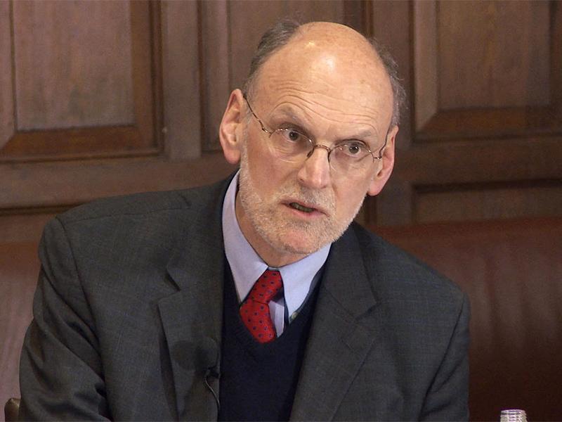 Oxford University professor of theology Nigel Biggar. Screenshot from YouTube.com