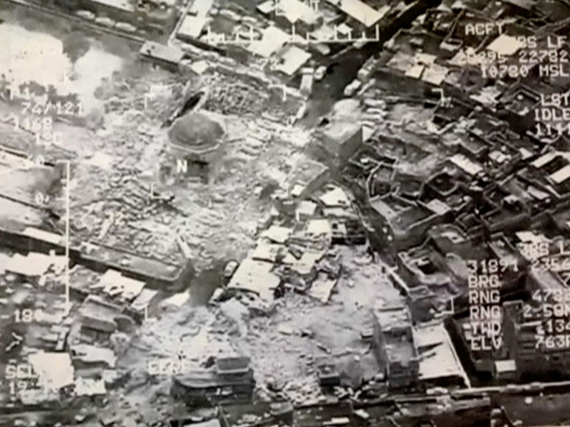 Shock and anger in Mosul after ISIS destroys historic mosque