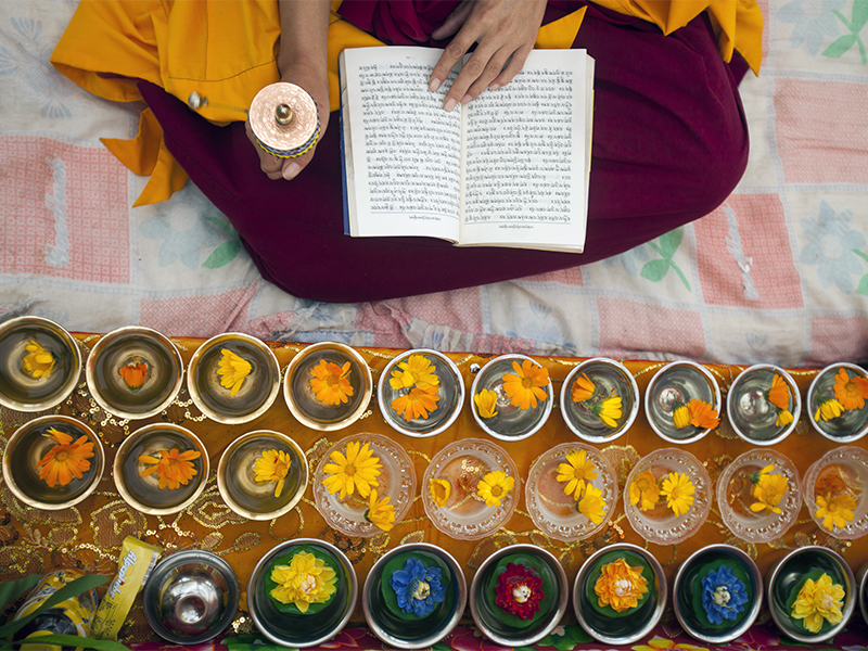 A Buddhist prayer festival fills a remote Tibetan village with color