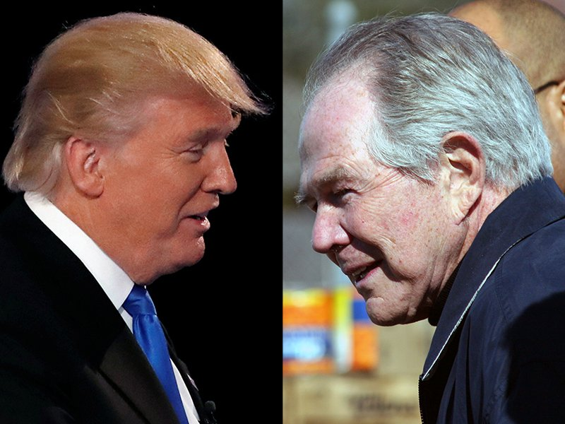 President Trump, left, and Pat Robertson