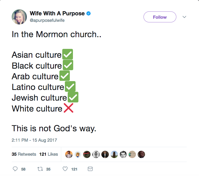 Lds Church Rebukes Mormon White Supremacists Who Rebuke The Church