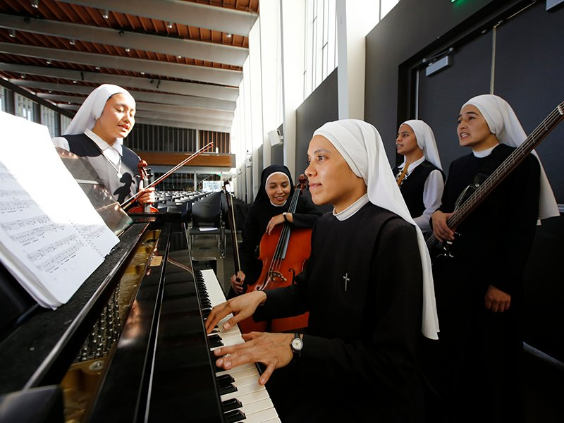 The 11 sisters of Siervas are a rock band like 'nun' other