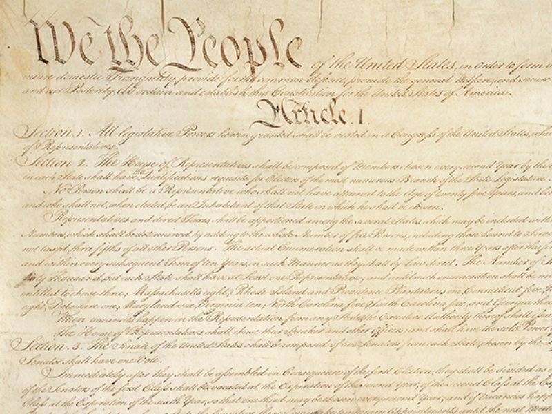 First page of the U.S. Constitution. Image courtesy of Whitehouse.gov/Creative Commons