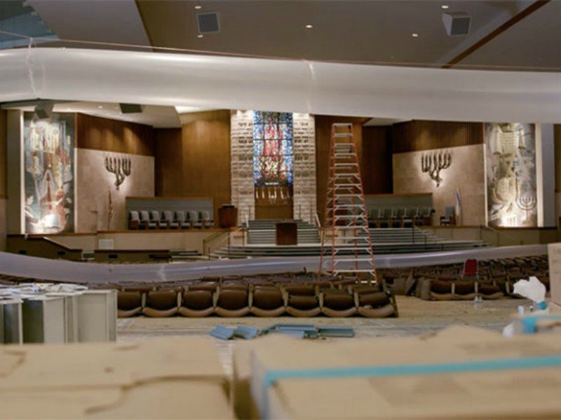 Every square inch of Congregation Beth Yeshurun in Houston's Meyerland neighborhood flooded because of Hurricane Harvey. Photo courtesy of the Jewish Federation of Greater Houston