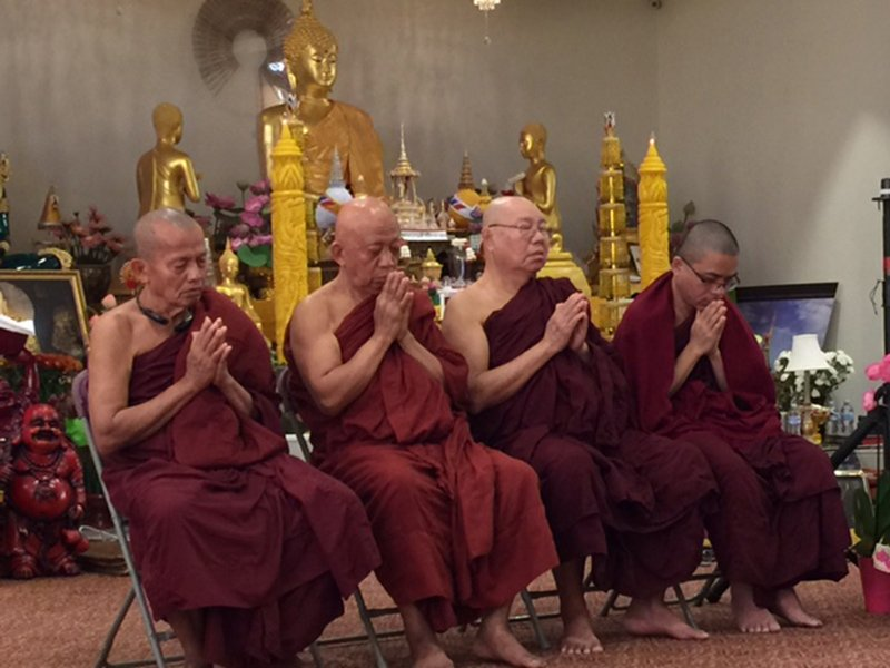 0c3e6090f Buddhist monks at Chaiya Meditation Monastery offer prayers for the victims  on Oct. 8, a week after the mass shooting in Las Vegas.