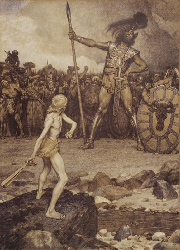 beowulf and goliath The english patient as the multiple relaying of one event, also assist is the creation of meaningthe biblical story of david and goliath is also referred to frequently in the novel and is critical in assembling meaning s critical in assembling meaning.