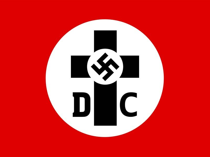 Flag of the German Christians, 1932. Photo courtesy of Wikimedia Commons