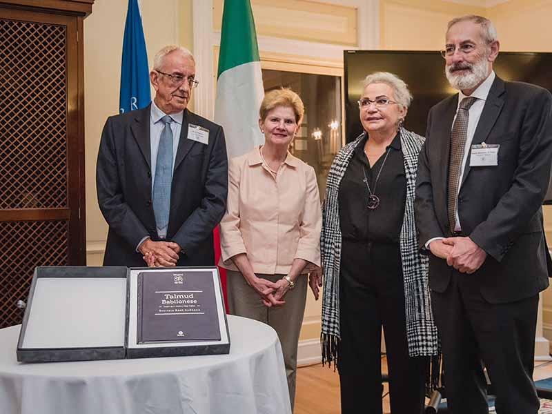 Prof. Mario Patrono, Dr. Jane McAuliffe, Prof. Clelia Piperno, and Rabbi Riccardo Di Segni. Photo by Aldo Soligno