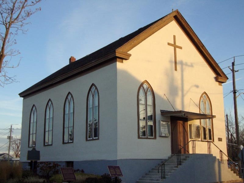 The church Harriet Tubman attended when she lived in St. Catharines, Ontario. Photo courtesy of Salem Chapel British Methodist Episcopal Church