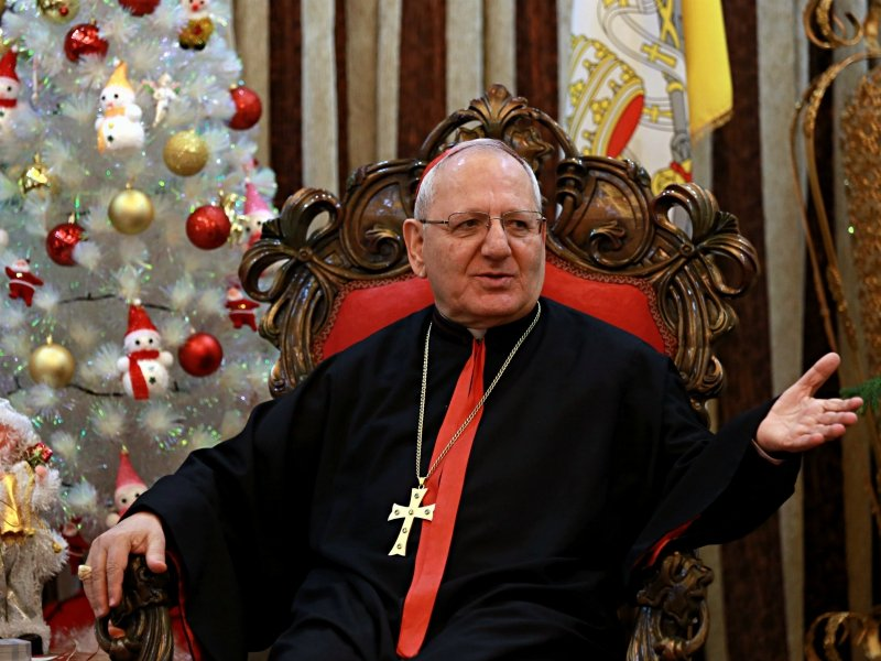Chaldean Patriarch Raphael Sako tells The Associated Press what it will take to bring Christians back to Iraq after the defeat of ISIS. (AP Photo/Khalid Mohammed)