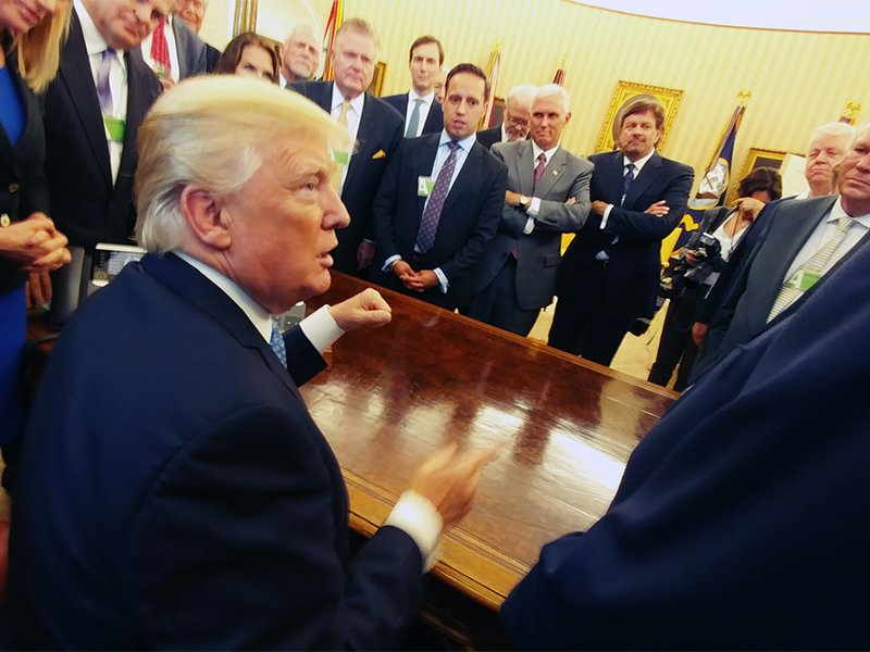President Trump meets with faith leaders inside the Oval Office on May 3, 2017.  Photo by Pastor Mark Burns