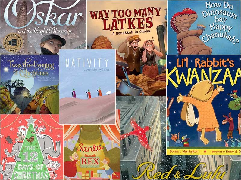 Christmas Hanukkah Kwanzaa And Other Holidays.Kids Holiday Books Christ Candelabras And Critters