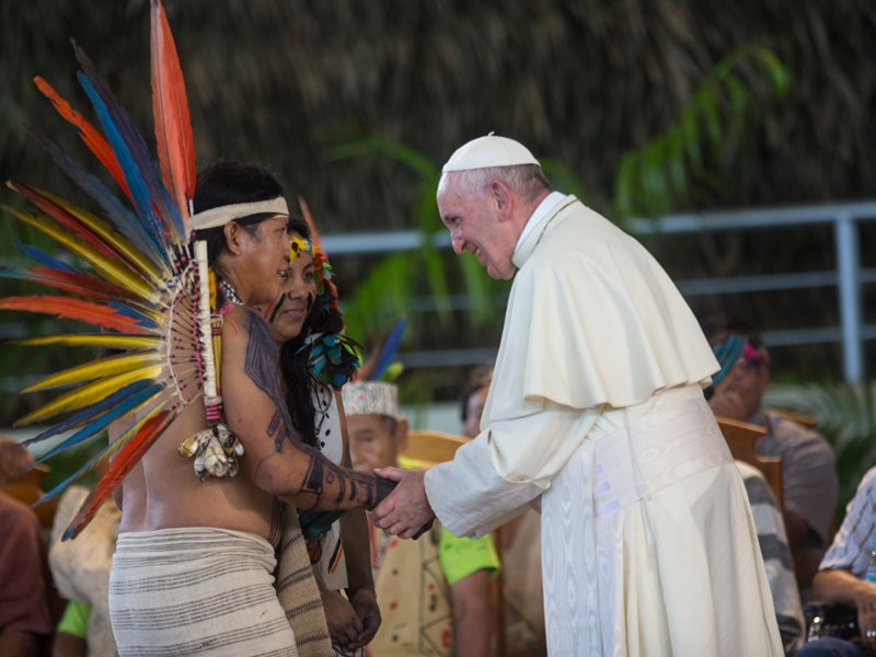 Pope to indigenous: Amazon is 'heart of the church'
