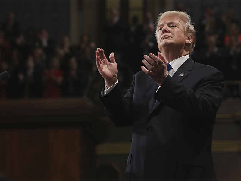 Religious leaders hail, hammer President Trump's first State of the Union speech - RNS