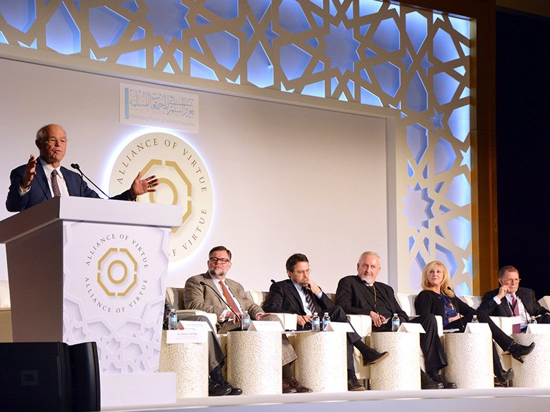 Panel discussion at the Alliance of Virtue conference in Washington, D.C., on Feb. 7, 2018.  RNS photo by Jack Jenkins.