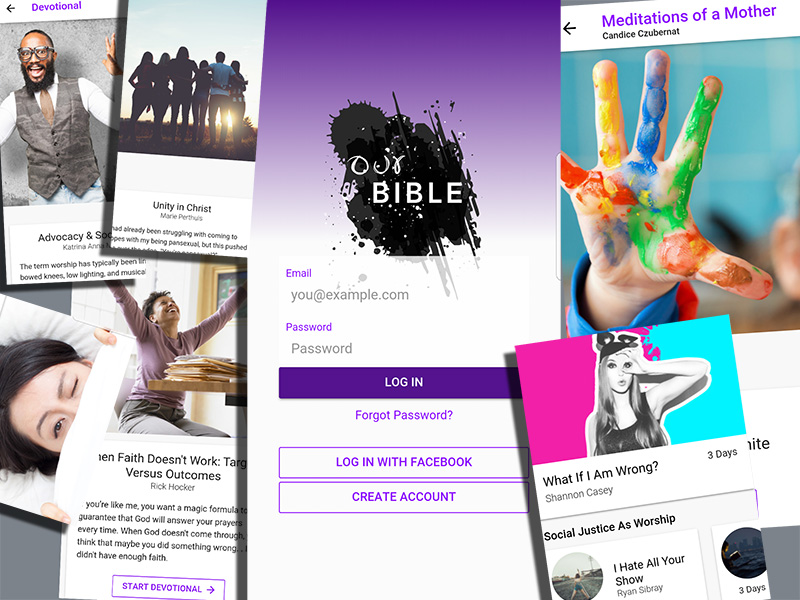 Images from the Our Bible app, which caters to LGBTQ Christians, their friends, family and allies. Images courtesy of Our Bible