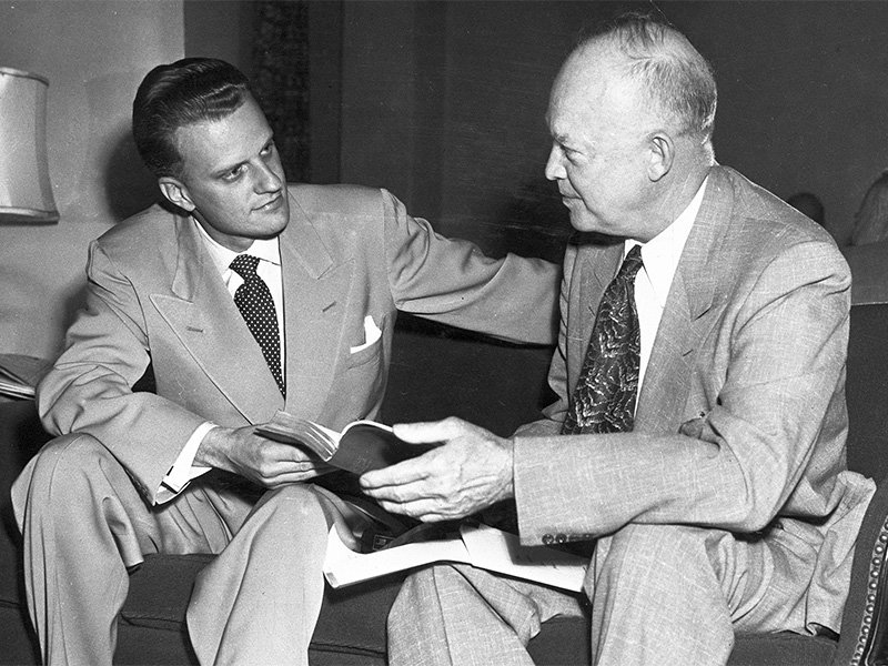 Billy Graham and President Eisenhower in an undated photo. Photo courtesy of Billy Graham Evangelistic Association
