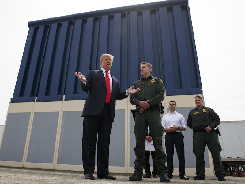 Tours offer a view of border wall models