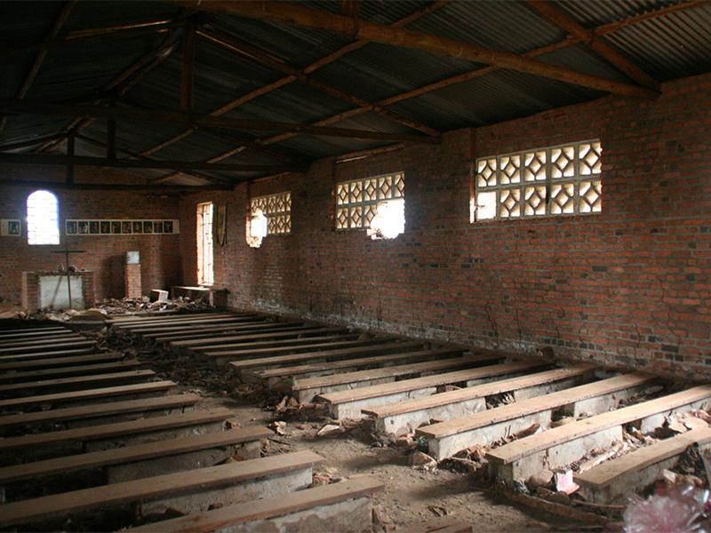 Pews in an empty church near Kigali, Rwanda. Photo by Scott Chacon/Creative Commons
