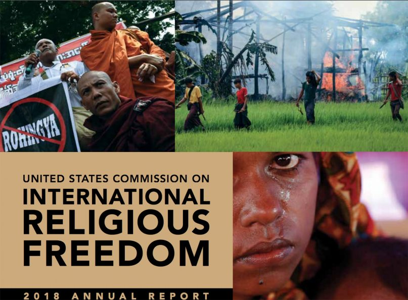 """""""United States Commission on International Religious Freedom: 2018 Annual Report.""""  Image courtesy of USCIRF"""