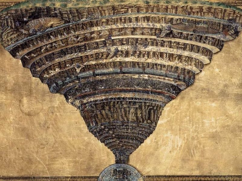 The abyss of hell. (Wikimedia/Sandro Botticelli).
