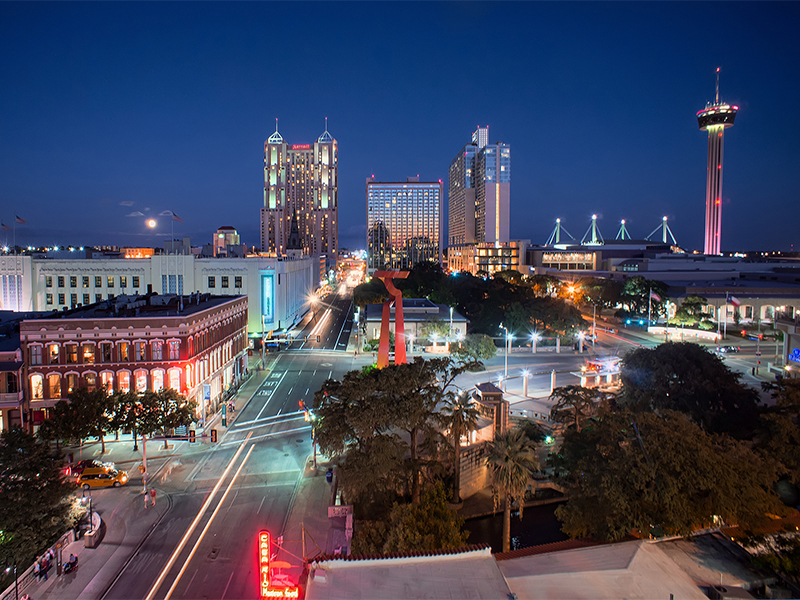 The downtown San Antonio skyline in 2012.  An interfaith group plans to advocate for better housing options in the city. Photo by Katie Haugland Bowen/Creative Commons
