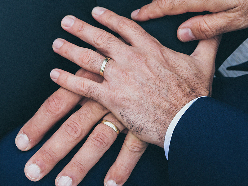 Hands of a same-sex couple.  Photo byNick Karvounis/Unsplash