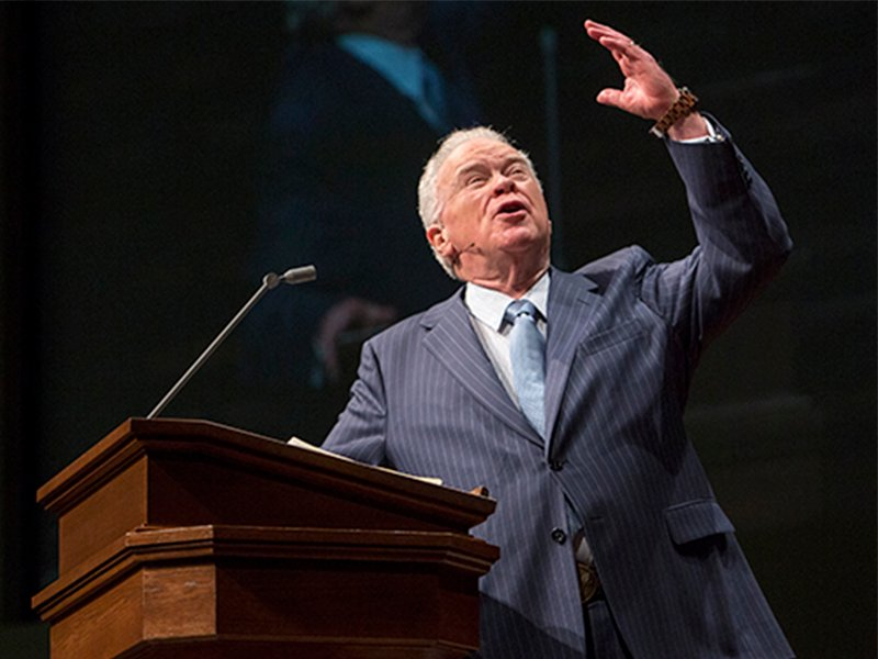 Paige Patterson speaks at Southwestern Baptist Theological Seminary on Feb. 16, 2017, in Fort Worth, Tx. Photo courtesy of SWBTS