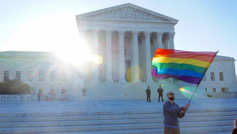 Arguments at the United States Supreme Court for Same-Sex Marriage on April 28, 2015 - Image courtesy of Ted Eytan via Flickr creative commons -