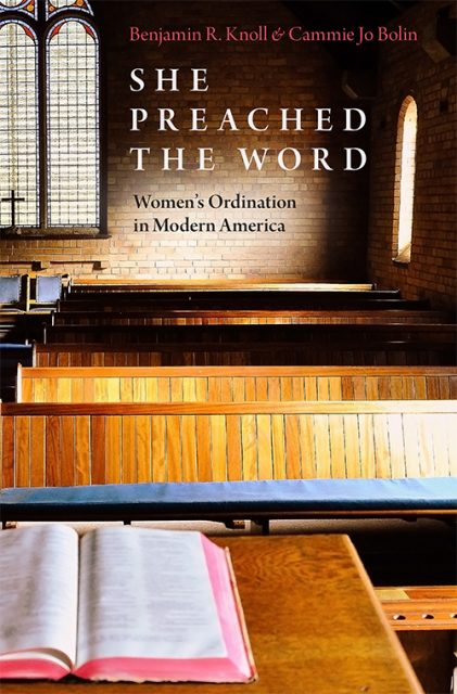 New research from Benjamin Knoll and Cammie Jo Bolin on the effect of women's ordination in America (Oxford University Press).