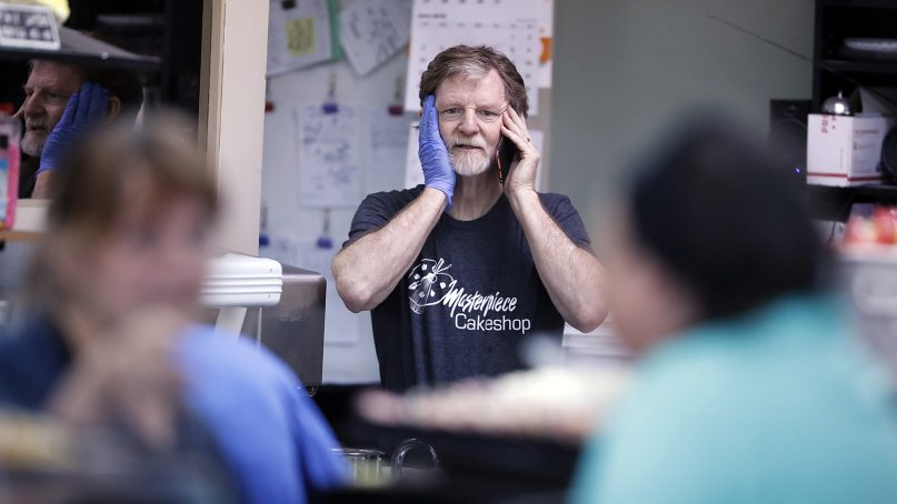 Baker Jack Phillips, owner of Masterpiece Cakeshop, manages his shop on June 4, 2018, in Lakewood, Colo. The Colorado baker is back in court again. (AP Photo/David Zalubowski)