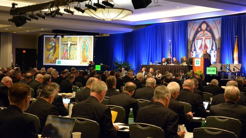 Clergy attend the U.S. Conference of Catholic Bishops Spring Assembly in Fort Lauderdale, Florida, on June 13, 2018. RNS photo by Jack Jenkins